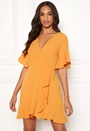 Frill Sleeve Wrap Dress