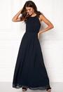 Lace Trim Chiffon Maxi Dress