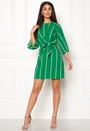 Stripe Tie Sleeve Dress