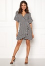 Strie Wrap Mini Dress