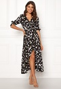 Wrap Front Printed Dress