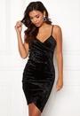 Velvet Wrap Bodycon Dress