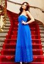 Model Behaviour Sanna Maxi Dress Cobolt Blue Bubbleroom.se