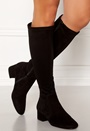 Suede Stretch Long Boots
