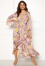 Floral Frilly Maxi Dress