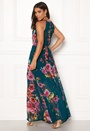 Floral Keyhole Maxi Dress
