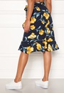 Floral Ruffle Wrap Skirt