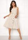 Stripe Tie Midi Dress