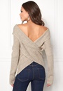 BUBBLEROOM Brixia knitted sweater Beige melange