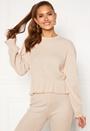 Elleny ribbed flounce sweater