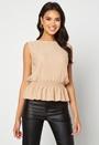 Lola pleated sleeveless top