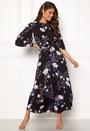 Vintage Drape Midi Dress