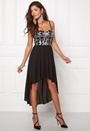 Chiara Forthi Camylle Highlow Dress Black / Silver Bubbleroom.no