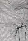 Corina rib wrap midi dress