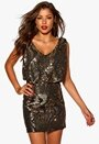 Chiara Forthi Double Stretch Sequin Black Bubbleroom.se