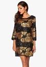 Chiara Forthi Harleth Sequin Dress Black / Gold Bubbleroom.no