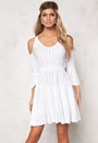 Chiara Forthi Intrend Bregje Dress Jerseymekko Valkoinen Bubbleroom.fi