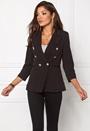 Chiara Forthi Tailored Blazer Black / Gold Bubbleroom.se