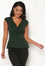 Varenna draped peplum top