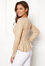 Zipped faux suede jacket