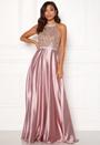 Rhinestone Satin Dress