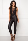 Club L Mesh Applique Bodysuit Black