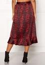Red Animal Sateen Skirt