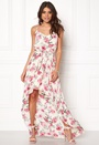 DRY LAKE First Love Long Dress 992 Pink Rose Print Bubbleroom.se