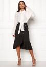 Emily Button Wrap Skirt