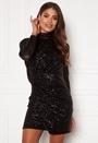 Drape Sequin Mini Dress