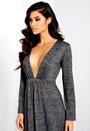 Make Way Ilona Dress Grey Melange Bubbleroom.dk