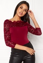 3/4 Lace Sleeve Bodysuit