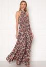 Floral High Neck Maxi Dress