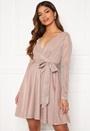 Long Sleeve Glitter Skater Dress