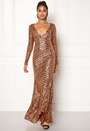 Open Back Sequin Maxi Dress