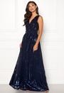 Sequin Chiffon Maxi Dress