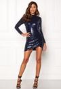 Sequin Open Mini Dress