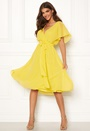 Sleeve Chiffon Midi Dress