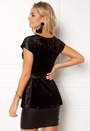 Happy Holly Disa velour top Black