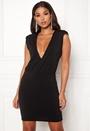 Sharp Shoulder Mini Dress