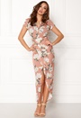 John Zack Cap Sleeve Rouch Dress Pink Floral