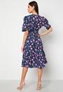 Floral Smock Midaxi Dress