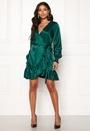 Frilly Wrap Mini Dress