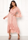 Wrap Front High Low Dress