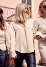 Waist smock blouse