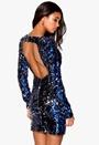 Model Behaviour Molly Dress Blue / Silver Bubbleroom.no