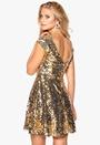 Model Behaviour Saga Dress Gold