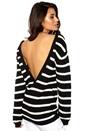 Make Way Savannah Sweater Black/White/Stripes Bubbleroom.se