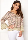Honey-Coated L/S Blouse