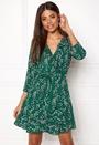 ONLY Ditte 3/4 Wrap Dress Posy Green Bubbleroom.fi